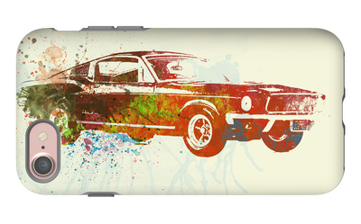Ford Mustang Watercolor iPhone 7 Case by  NaxArt
