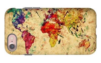 Vintage World Map iPhone 7 Case by PHOTOCREO Michal Bednarek