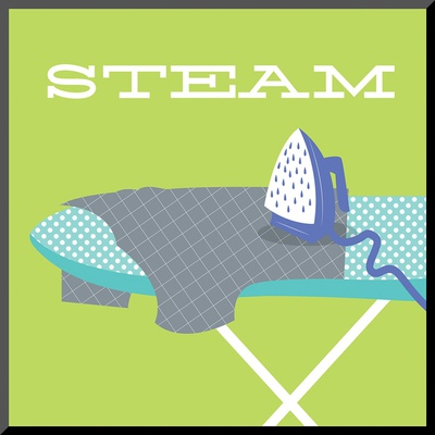 Laundry Steam Mounted Print by Tiffany Everett