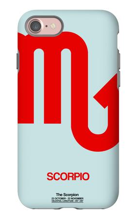Scorpio Zodiac Sign Red iPhone 7 Case by  NaxArt