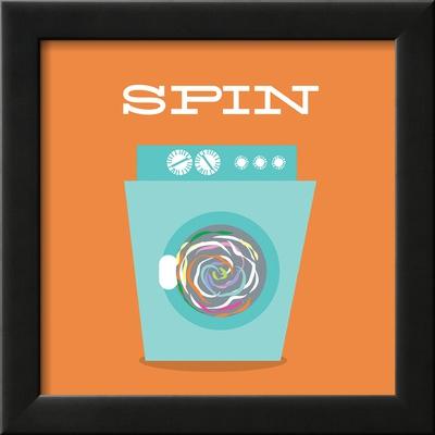 Laundry Spin Print by Tiffany Everett