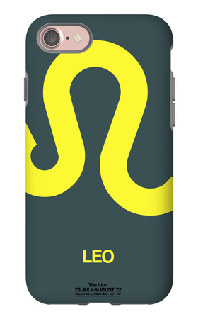 Leo Zodiac Sign Yellow iPhone 7 Case by  NaxArt