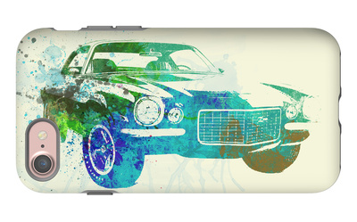 Chevy Camaro Watercolor iPhone 7 Case by  NaxArt
