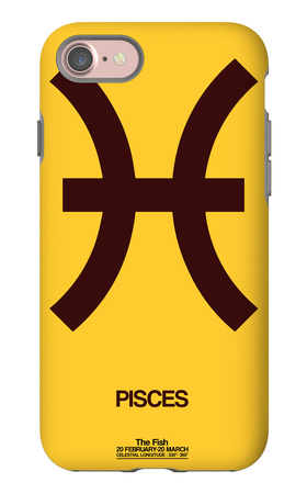 Pisces Zodiac Sign Brown iPhone 7 Case by  NaxArt