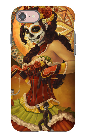 Day of the Dead - Marionettes iPhone 7 Case by  Lantern Press