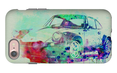 Porsche 911 Watercolor 2 iPhone 7 Case by  NaxArt