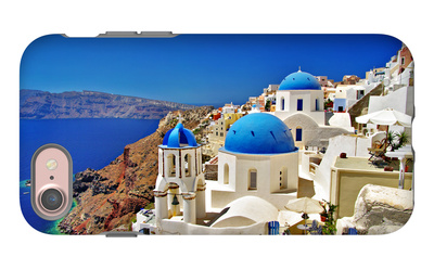 Amazing Santorini - Travel In Greek Islands Series iPhone 7 Case by  Maugli-l