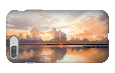 Sunset over Lake iPhone 7 Plus Case by Bruce Nawrocke