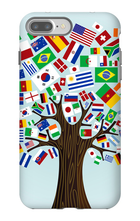 Flags Of The World Tree iPhone 7 Plus Case by  cienpies