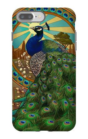 Peacock - Art Nouveau iPhone 7 Plus Case by  Lantern Press