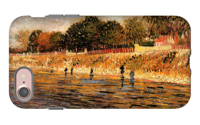 The Banks of the Seine iPhone 7 Case by Vincent van Gogh