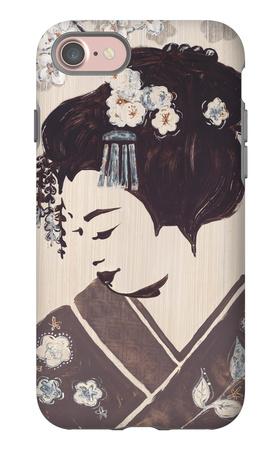 Kyoto Geisha iPhone 7 Case by Bella Dos Santos