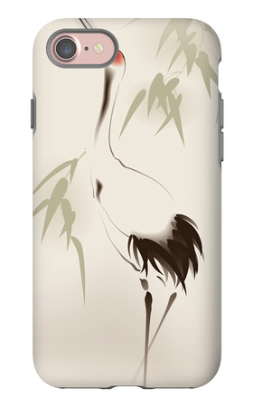 Oriental Style Painting, Red-Crowned Crane iPhone 7 Case by  ori-artiste