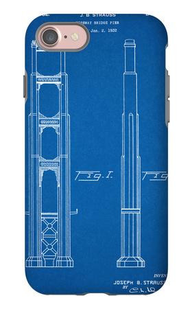 Golden Gate Bridge Patent iPhone 7 Case