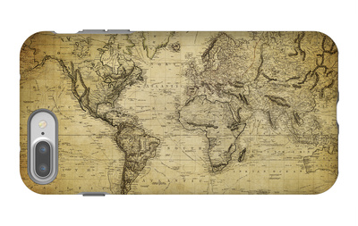 Vintage Map of the World, 1814 iPhone 7 Plus Case by  javarman