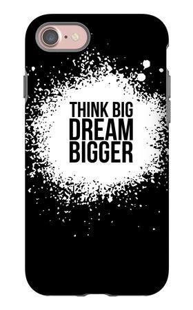 Dream Bigger Black iPhone 7 Case by  NaxArt