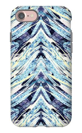 Psychedelic Fiber Seamless Pattern iPhone 7 Case by Alexandra Khrobostova