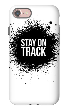 Stay on Track White iPhone 7 Case by  NaxArt