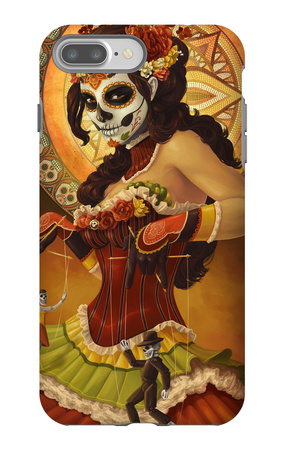 Day of the Dead - Marionettes iPhone 7 Plus Case by  Lantern Press