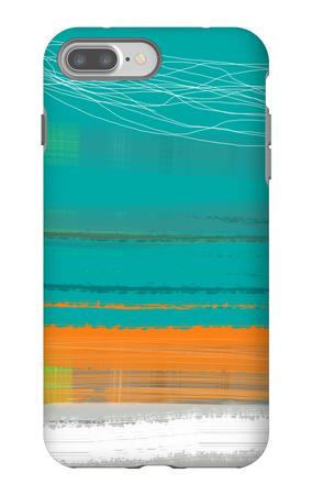 Abstract Orange Stripe2 iPhone 7 Plus Case by  NaxArt