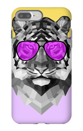 Party Tiger in Glasses iPhone 7 Plus Case by Lisa Kroll