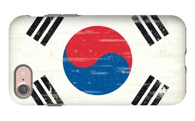 South Korea Grunge Flag. A Flag South Korea With A Texture iPhone 7 Case by  TINTIN75