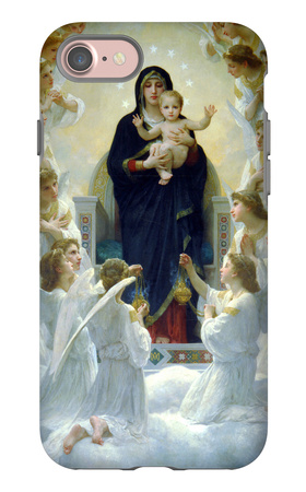The Virgin with Angels iPhone 7 Case by William Adolphe Bouguereau