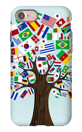 Flags Of The World Tree iPhone 7 Case by  cienpies