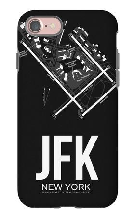 JFK New York Airport Black iPhone 7 Case by  NaxArt
