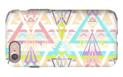 Abstract Geometric Seamless Aztec Pattern. Colorful Ikat Style Pattern. iPhone 7 Case by cherry blossom girl