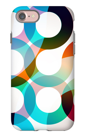 Rainbow Circles iPhone 7 Case by  VolsKinvols