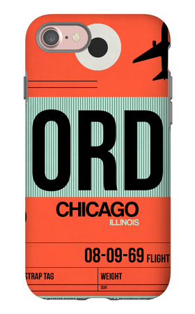 ORD Chicago Luggage Tag 2 iPhone 7 Case by  NaxArt