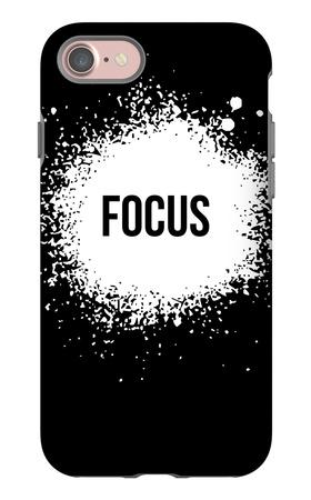 Focus Black iPhone 7 Case by  NaxArt