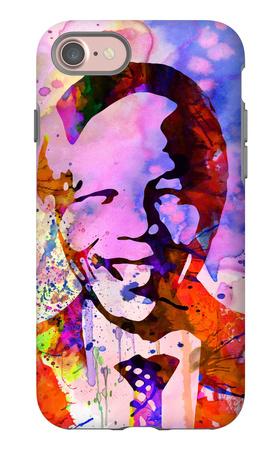 Nelson Mandela Watercolor iPhone 7 Case by Anna Malkin