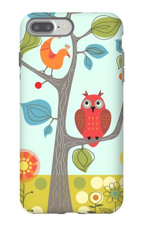 Owl in Tree iPhone 7 Plus Case