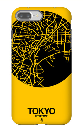 Tokyo Street Map Yellow iPhone 7 Plus Case by  NaxArt