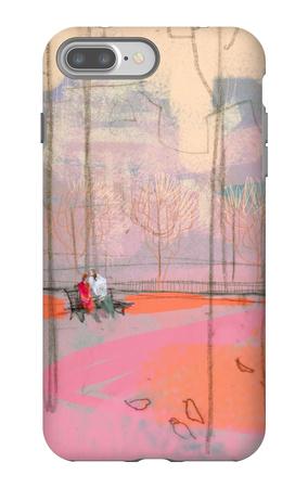 Couple on Park Bench iPhone 7 Plus Case