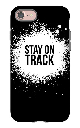 Stay on Track Black iPhone 7 Case by  NaxArt