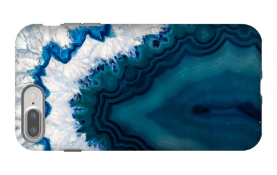 Blue Brazilian Geode iPhone 7 Plus Case by Dario Lo Presti