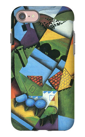 Landscape with Houses in Céret iPhone 7 Case by Juan Gris