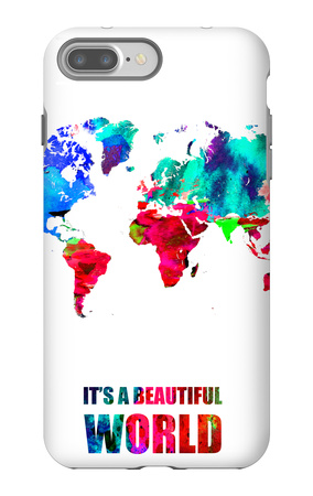 It's a Beautifull World Poster iPhone 7 Plus Case by  NaxArt