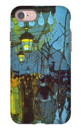 Avenue De Clichy iPhone 7 Case by Louis Anquetin