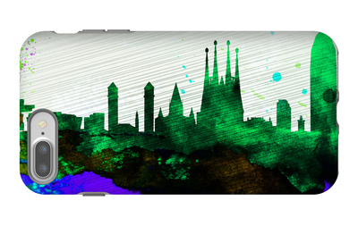 Barcelona City Skyline iPhone 7 Plus Case by  NaxArt