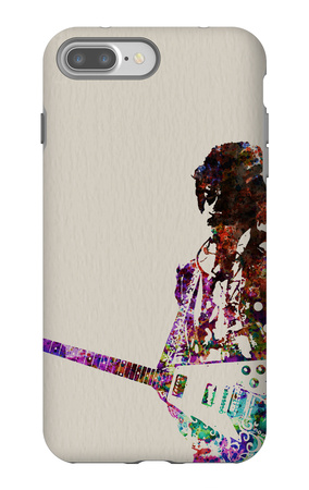 Hendrix With Guitar Watercolor iPhone 7 Plus Case by  NaxArt