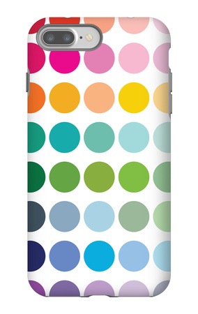 Rainbow Dots iPhone 7 Plus Case by  Avalisa