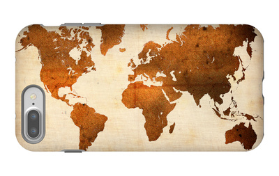World  Map 7 iPhone 7 Plus Case by  NaxArt