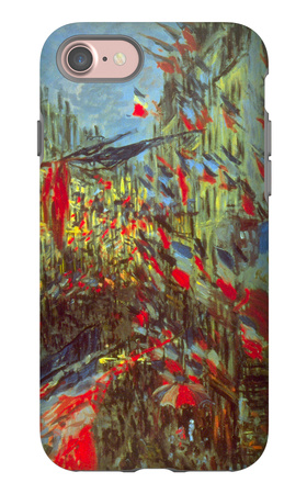 Rue Saint-Denis in Paris, Celebration of 30th June 1878 iPhone 7 Case by Claude Monet