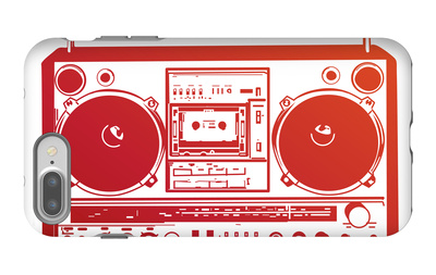 Boombox iPhone 7 Plus Case by  PixelEmbargo