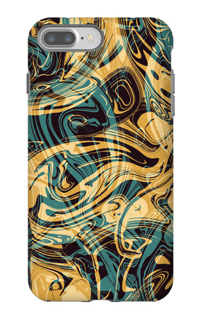 Psychedelic Seamless Print iPhone 7 Plus Case by Alexandra Khrobostova