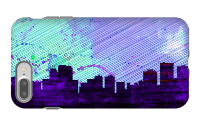 Anchorage City Skyline iPhone 7 Plus Case by  NaxArt